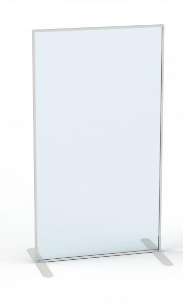Carto Sicht- und Schutzwand, freistehend, glasklar