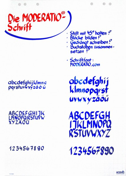 Moderations-Schrift Plakat Din A2
